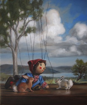 "Sebbie and the Bunnies 2015, 10x12"" Available"