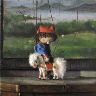 "Sebbie and the Little Horse 2010, 10x10"" ~sold~"